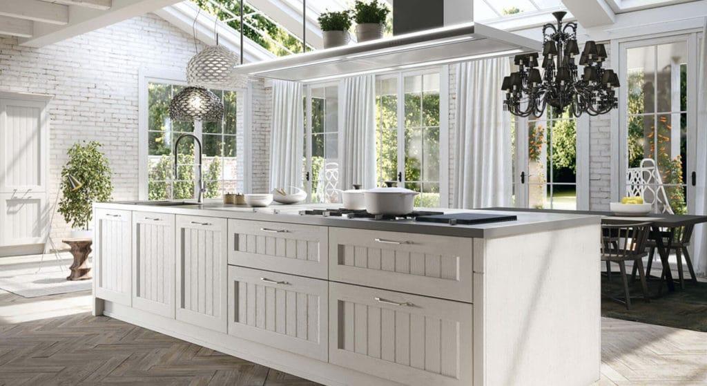 Cuisine design traditionnel blanc, arrital